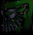 black half mask and tree vector image vector image