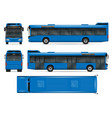 blue bus mockup vector image vector image