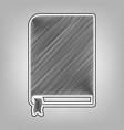 book sign pencil sketch imitation dark vector image vector image