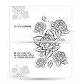 business card with flowers silhouette concept vector image vector image