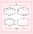 calligraphic frames set vector image vector image
