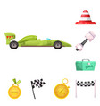 car and rally symbol vector image