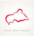 central african republic - outline map vector image