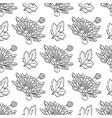 chrysanthemum seamless pattern vector image vector image