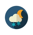 Cloud Snow Moon flat icon Meteorology Weather vector image vector image
