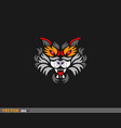 colorful tiger face vector image vector image