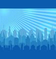 comic cityscape concept vector image