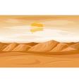Desert mountains sandstone background vector image vector image