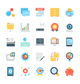 Design and Development Colored Icons 6 vector image vector image