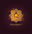 eight-pointed star ramadan kareem cover mubarak vector image