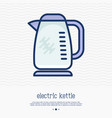 electric kettle thin line icon vector image