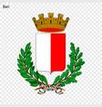 emblem of bari vector image vector image
