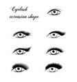 eyelash extension shape vector image