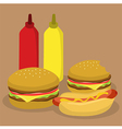 Fast Food Burger and Hotdog vector image