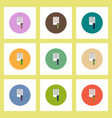 flat icons set of certificatev concept on colorful vector image vector image