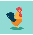 funny cartoon cock vector image vector image