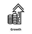 growth thin line icon vector image vector image