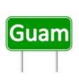 Guam road sign vector image vector image