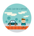 handsome hipster guy in stylish clothes standing vector image vector image