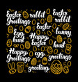 happy easter calligraphy design vector image vector image