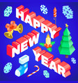 happy new year design template vector image vector image