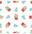 holiday seamless pattern with funny tigers sitting vector image vector image