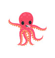 joyful little octopus having fun and showing his vector image