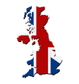map of great britain with flag vector image vector image