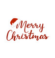 merry christmas on white vector image vector image