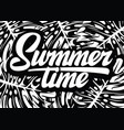 monochrome template for summer time party with vector image