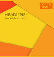 orange background wallpaper banner design vector image vector image
