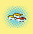 packing fast food sauce vector image vector image