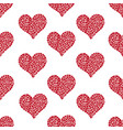 pattern with mosaic hearts vector image vector image