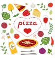 Pizza collection vector image vector image