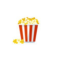 popcorn icon on a white background vector image vector image