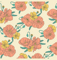 poppies seamless pattern vector image vector image