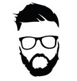 portrait a man in glasses with a beard vector image