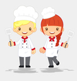 profession-cute-chef vector image vector image