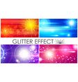 realistic glitter light effects composition vector image