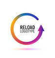 reload abstract logo retry colorful vector image vector image