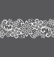 romantic seamless lace pattern decorative vector image vector image