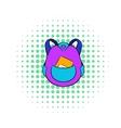 School bag icon in comics style vector image vector image