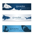 Set of banners with sharks vector image vector image