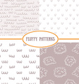 Set of seamless fluffy patterns vector image vector image