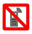 Sign forbidding to use the phone vector image vector image