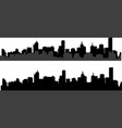 silhouette of city 2 vector image vector image