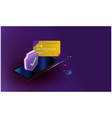 smart security credit cards controls futuristic vector image vector image