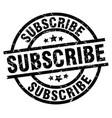 Subscribe round grunge black stamp