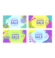 summer sale banner templates for social media vector image vector image