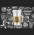 take away coffee ads creative vector image vector image